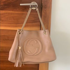 Gucci Bags - GUCCI SOHO pebbled leather authentic tote